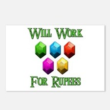 Will Work For Rupees Postcards (Package of 8)