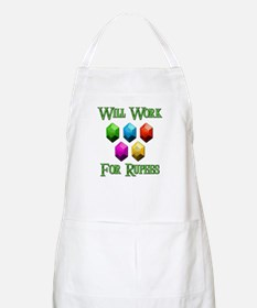 Will Work For Rupees Apron