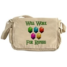 Will Work For Rupees Messenger Bag