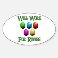 Will Work For Rupees Decal