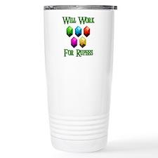 Will Work For Rupees Travel Mug