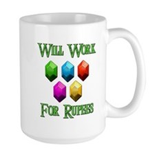 Will Work For Rupees Mug