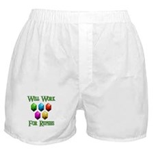 Will Work For Rupees Boxer Shorts