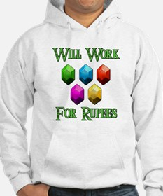 Will Work For Rupees Hoodie