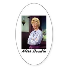 Miss B (color) Oval Decal