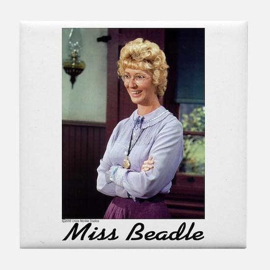 Miss B (color) Tile Coaster