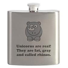 Unicorn Rhino Black.png Flask