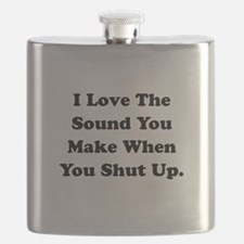 Shut Up Black.png Flask