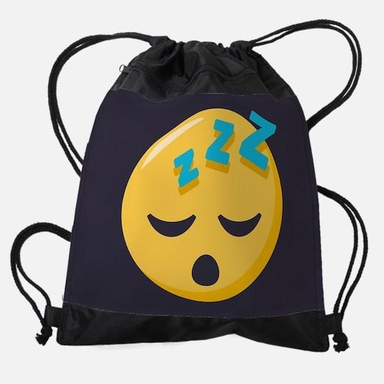 Sleeping Emoji Drawstring Bag
