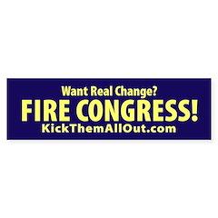 FIRE CONGRESS Yellow and Blue Sticker (10 pk)