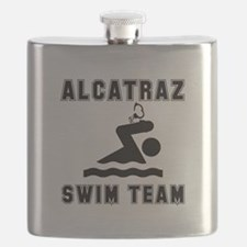 Alcatraz Swim Team Black.png Flask