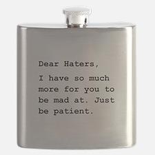 Dear Haters Black.png Flask