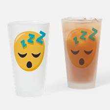 Sleeping Emoji Drinking Glass