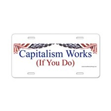 Capitalism Works Aluminum License Plate