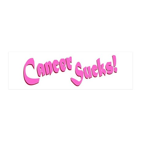 Cancer Sucks Funny Pink 36x11 Wall Decal