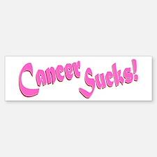 Cancer Sucks Funny Pink Sticker (Bumper)