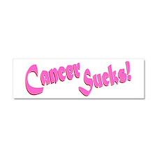 Cancer Sucks Funny Pink Car Magnet 10 x 3