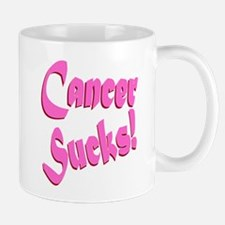 Cancer Sucks Funny Pink Mug