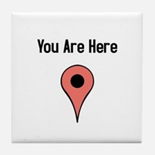 You Are Here (v2) Tile Coaster