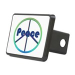 Blue / Green Peace Sign Rectangular Hitch Cover