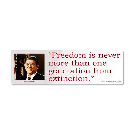 Reagan: Freedom Extinction Car Magnet 10 x 3