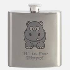 H is for Hippo Grey.png Flask