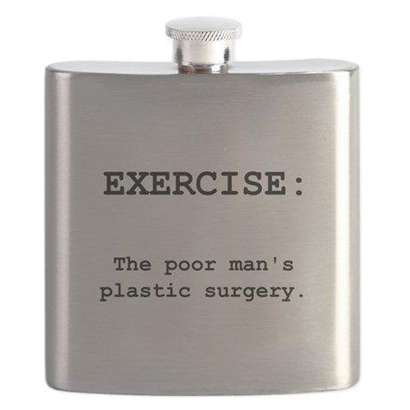 Exercise Plastic Surgery Black.png Flask