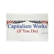 Capitalism Works Rectangle Magnet