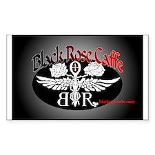 Black Rose Caffe Rectangle Decal