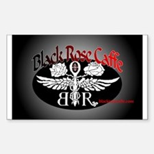 Black Rose Caffe Rectangle Decal