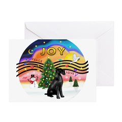 XM2-Giant black Schnauzer Greeting Card
