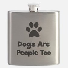 Dogs People Too Black.png Flask