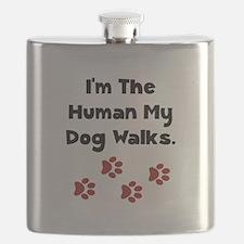 Human Dog Walks Black.png Flask