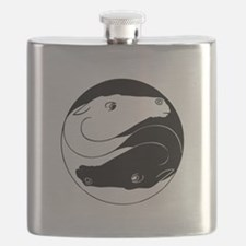 Horse Yin Yang Black ONLY.png Flask