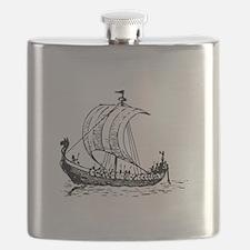 Viking Ship Black.png Flask