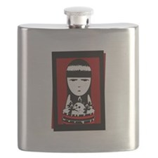 Goth Girl Black.png Flask