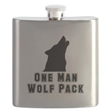 One Man Wolf Pack Black.png Flask