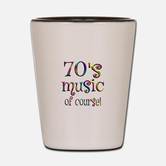 70s Music of Course Shot Glass