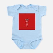 Keep Calm and Tilt On Infant Bodysuit