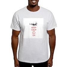 Keep Calm and Tilt On (white) T-Shirt