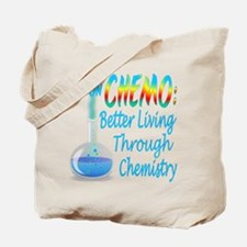 Funny Cancer CHEMO Chemistry Blue Tote Bag