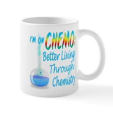 Funny Cancer CHEMO Chemistry Blue Mug