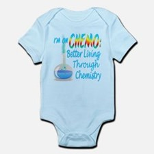 Funny Cancer CHEMO Chemistry Blue Infant Bodysuit