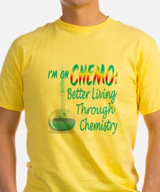 Funny Cancer CHEMO Chemistry Blue T