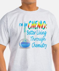 Funny Cancer CHEMO Chemistry Blue T-Shirt