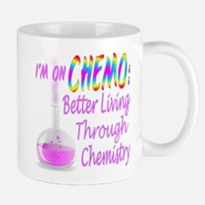 Funny Cancer Chemo Chemistry Pink Mug
