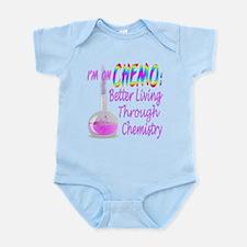 Funny Cancer Chemo Chemistry Pink Infant Bodysuit