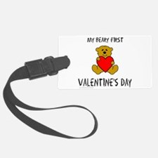 Cute First valentines day Luggage Tag