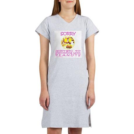 ALLERGIC TO PEANUTS Women's Nightshirt