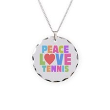 Peace Love Tennis Necklace